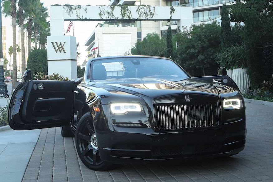 blacked our Rolls Royce Dawn Rental 13-990